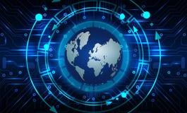 Fundo abstrato da tecnologia com globo Fotografia de Stock