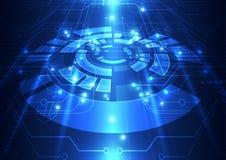 Fundo abstrato da tecnologia da engenharia do vetor, ilustração Fotos de Stock Royalty Free