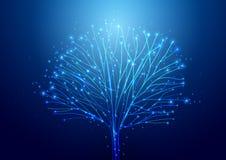 Fundo abstrato da tecnologia de circuito Wi futuristas da tecnologia ilustração stock