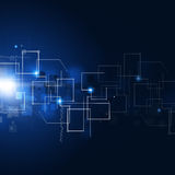 Fundo abstrato da tecnologia de comunicação Imagens de Stock