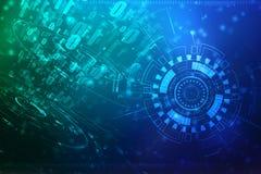 Fundo abstrato da tecnologia de Digitas, fundo binário, fundo futurista foto de stock