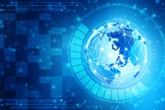 Fundo abstrato da tecnologia de Digitas, fundo binário, fundo futurista, conceito do Cyberspace Fotos de Stock