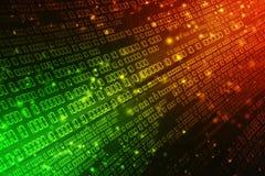 Fundo abstrato da tecnologia de Digitas, fundo do código binário rendição 3d ilustração stock