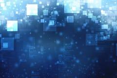 Fundo abstrato da tecnologia de Digitas, fundo do espaço do cyber, fundo futurista ilustração do vetor