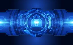 Fundo abstrato da tecnologia digital da segurança vetor da ilustração Imagem de Stock