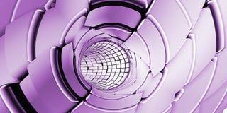 Fundo abstrato da tecnologia do túnel imagens de stock royalty free