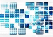 Fundo abstrato da tecnologia do vetor, ilustração Fotos de Stock
