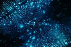 Fundo abstrato da tecnologia, fundo futurista, conceito do Cyberspace ilustração royalty free