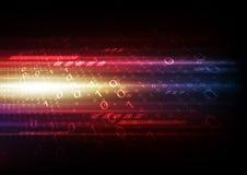 Fundo abstrato da tecnologia da informática, uma comunicação da rede digital, sinal do Internet da olá!-velocidade ilustração stock
