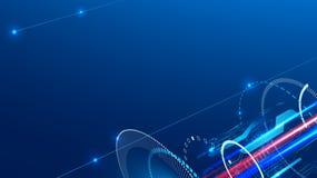 Fundo abstrato da tecnologia no assunto da engenharia, da indústria e das comunicações ilustração royalty free