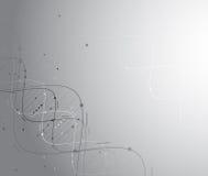Fundo abstrato da tecnologia Relação futurista da tecnologia Imagens de Stock