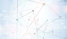 Fundo abstrato da tecnologia Relação futurista da tecnologia Vecto ilustração royalty free