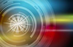 Fundo abstrato da tecnologia Relação futurista da tecnologia Vecto Imagens de Stock