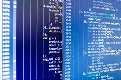 Fundo abstrato da tecnologia da TI Construção móvel do app Conceito abstrato de programação do algoritmo dos trabalhos imagens de stock
