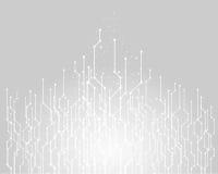 Fundo abstrato da tecnologia, vetor de conexão gráfico Imagens de Stock