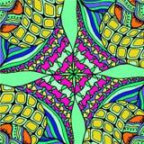 Fundo abstrato da tiragem geométrica dos testes padrões Foto de Stock