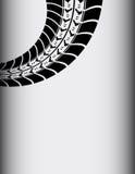 Fundo abstrato da trilha do pneu Imagem de Stock