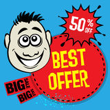 Fundo abstrato da venda Imagem de Stock