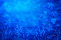 Fundo abstrato da vida de mar fotos de stock royalty free