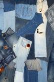 Fundo abstrato das calças de brim Fotografia de Stock