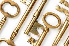 Fundo abstrato das chaves douradas Foto de Stock