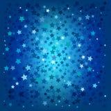 Fundo abstrato das estrelas azuis do Natal ilustração do vetor
