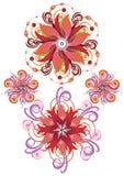 Fundo abstrato das flores Imagens de Stock Royalty Free