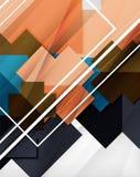 Fundo abstrato das formas coloridas geométricas ilustração stock