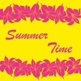 Fundo abstrato das horas de verão do vetor Fotos de Stock Royalty Free
