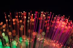 Fundo abstrato das luzes das fibras óticas Foto de Stock