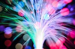 Fundo abstrato das luzes das fibras óticas fotografia de stock royalty free