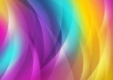 Fundo abstrato das ondas brilhantes coloridas Fotos de Stock