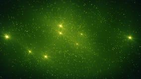Fundo abstrato das partículas verdes do fulgor Foto de Stock