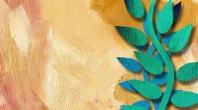Fundo abstrato das videiras gráficas na pintura da textura Imagens de Stock