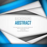 Fundo abstrato de azul, do branco e do preto Fotos de Stock