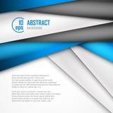 Fundo abstrato de azul, do branco e do preto Fotos de Stock Royalty Free