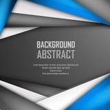 Fundo abstrato de azul, do branco e do preto Fotografia de Stock