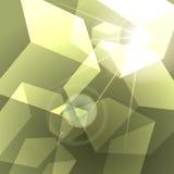 Fundo abstrato de brilho dos cubos verdes Imagem de Stock Royalty Free