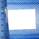 Fundo abstrato de calças de ganga com rebite Imagens de Stock