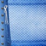Fundo abstrato de calças de ganga com rebite Foto de Stock Royalty Free