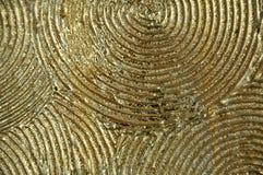 Fundo abstrato de cumes dourados aumentados de círculos concêntricos fotos de stock