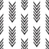 Fundo abstrato de desenhos em espinha Teste padrão sem emenda de Ikat Fotografia de Stock Royalty Free