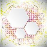 Fundo abstrato de elementos complexos no tema do Internet Imagem de Stock Royalty Free