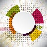 Fundo abstrato de elementos complexos no tema do Internet Fotografia de Stock