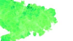 Fundo abstrato de emanações verdes ou da tinta verde com máscara alfa Use-o para o fundo, a transição ou as folhas de prova movim ilustração stock