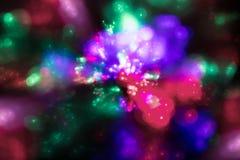 Fundo abstrato de flashes iridescentes coloridos Imagens de Stock