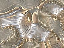 Fundo abstrato de fluxo líquido reconfortante do metal Foto de Stock Royalty Free