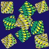 Fundo abstrato de geométrico em um fundo azul Fotos de Stock