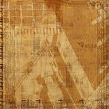 Fundo abstrato de Grunge com letras ilustração do vetor