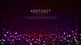 Fundo abstrato de incandescência das partículas Fundo dinâmico das explosões da partícula ilustração do vetor